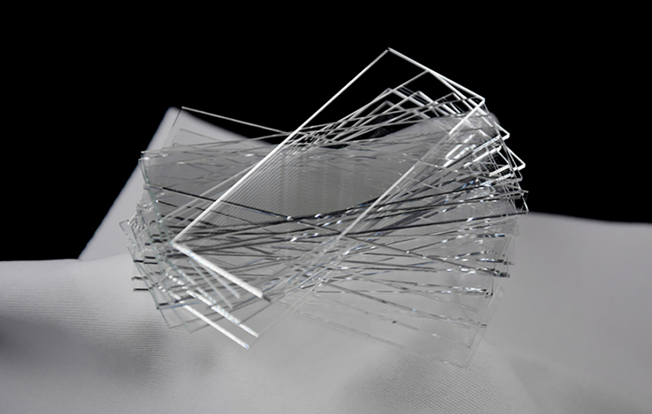 Laser manufacturing of glass for health technology